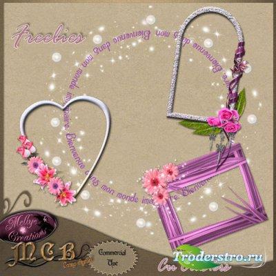 Цветочные PNG вырезы для рамок - Время любви