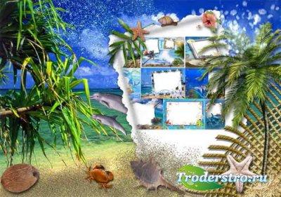 Летние рамки для фотошоп на морскую тематику Море, ах море!