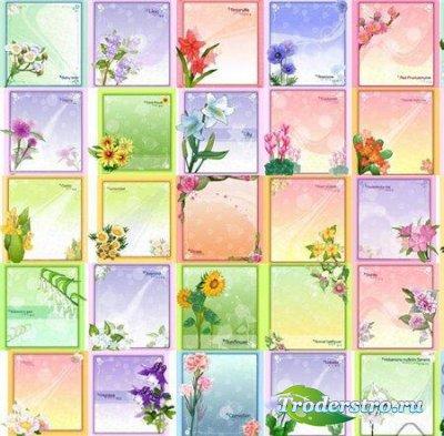 Коллекция цветочных рамок (Vector Floral Frames)