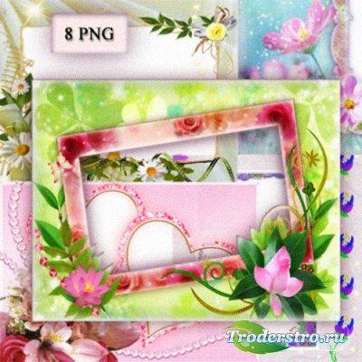 PNG Фоторамки - Золотое Сердце