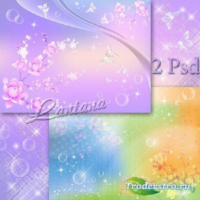 PSD исходники - Весна, как воздух чист, как ясен небосклон