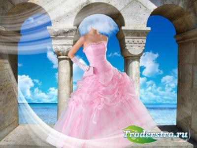 Шаблон для фотошопа – Красавица в розовом