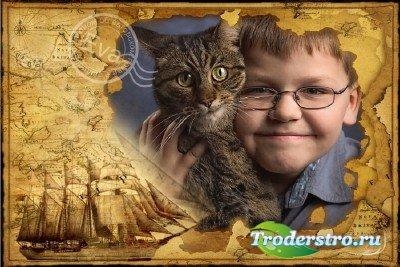 Детская рамка для фотошопа - Нас ждут великие открытия