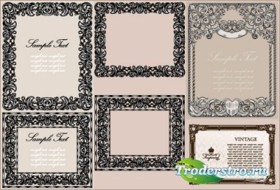 Геральдические рамки в старинном стиле (Вектор)