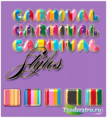 Стили для фотошопа - Карнавал
