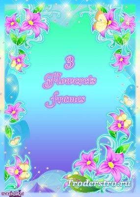 Набор цветочных рамок - Прелестной  дивной красоты  цветы желаний и мечты