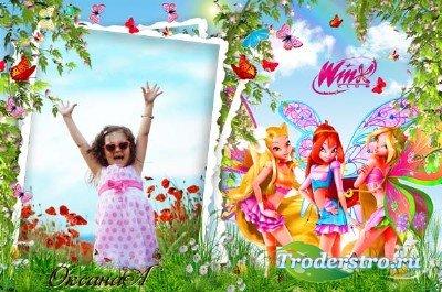Детская рамка для фото – встречаем лето с Winx