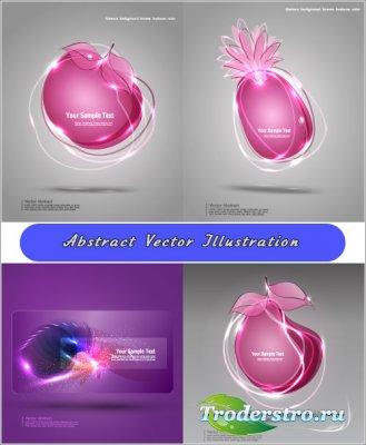 Абстрактная фруктовая иллюстрация (Вектор)