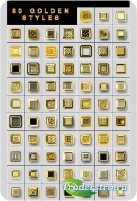 Золотые квадратики фотошоп стили
