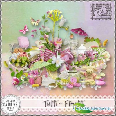 Симпатичный летний скрап-набор - Тутти Фрутти