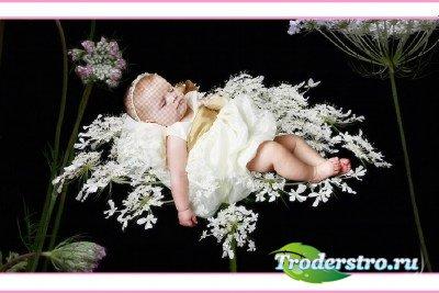 Шаблон для фотошопа - Наш цветочек