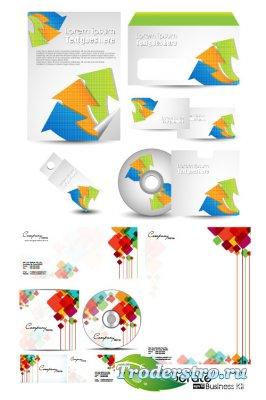 Дизайн бизнес брошюр и дисков (Вектор)