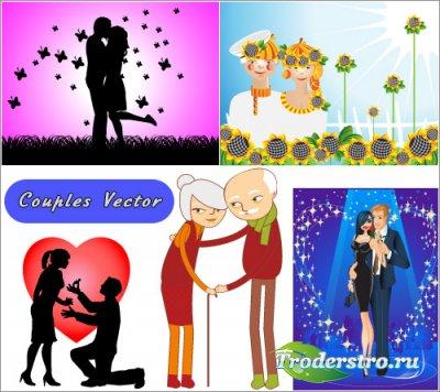 Влюбленные пары, Бабушки и дедушки (Вектор)