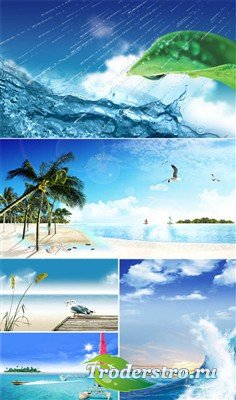 Отдых на море (многослойные PSD)