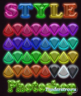 Стили для фотошопа - Разноцветный микс 13