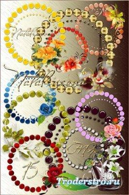 Цветочные рамки – вырезы / Flower frames– cuts