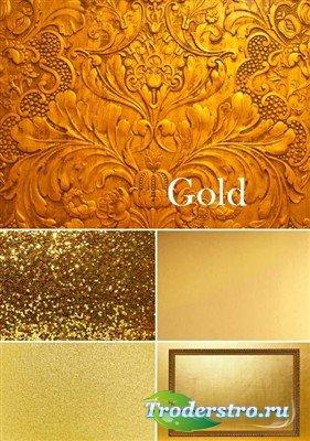 Золотые фоны высокого качества