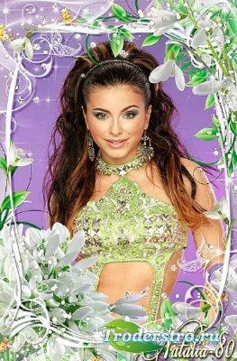 Цветочная рамочка для оформления фото - Волшебство весенней зелени