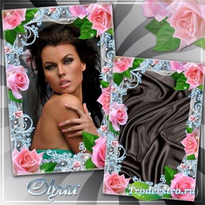 Цветочная рамка для фотошоп - Как прекрасны эти розы