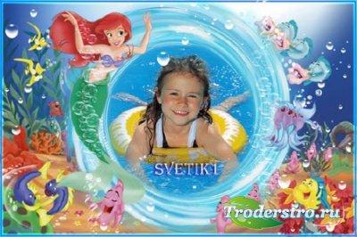 Детская рамка для фото - Подводный мир