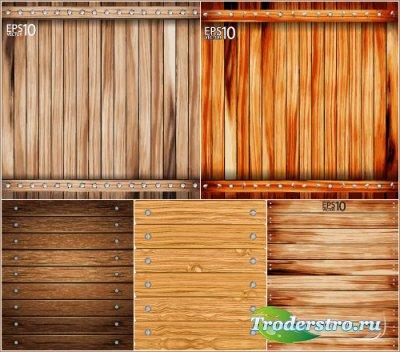 Текстуры деревянная доска с гвоздями (Вектор)