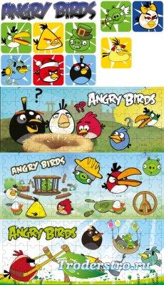 Векторные клипарт Angry Birds