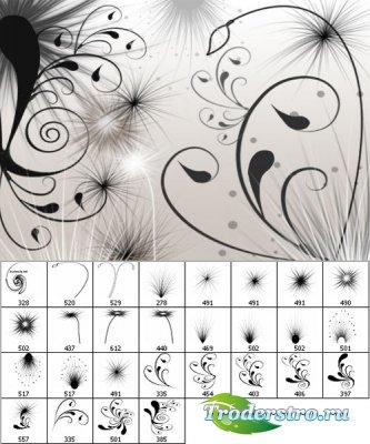 Кисти - Цветы завитки 3