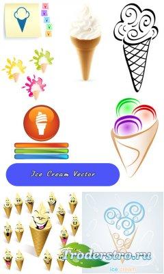 Мороженое стаканчик (Вектор)
