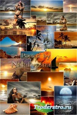 Морские закаты - Море, заливы, небо, ракушки