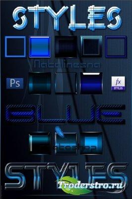 Голубые стили  для Photoshop / Blue Styles Photoshop