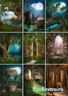 Сказочные пейзажи для фона