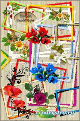 Рамки – вырезы с цветами / Frames – cuts with flowers