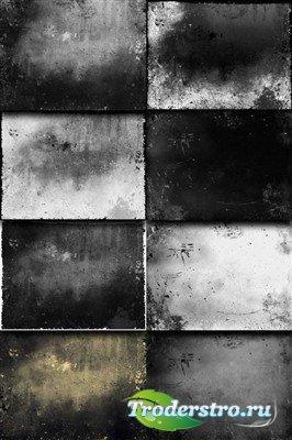 Коллекция темных гранжевых текстур