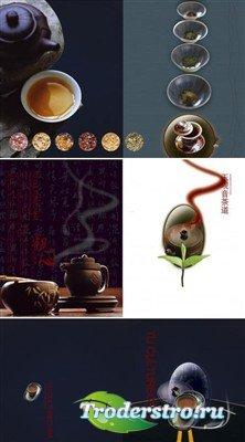 Чайная церемония (многослойные PSD)