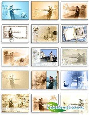 Коллекция многослойных винтажных фонов для романтических фото