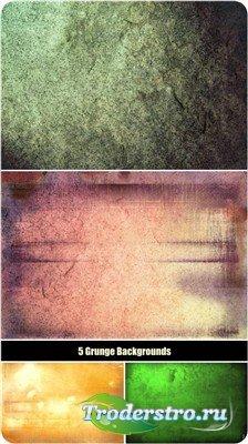 Гранжевые текстуры пяти оттенков