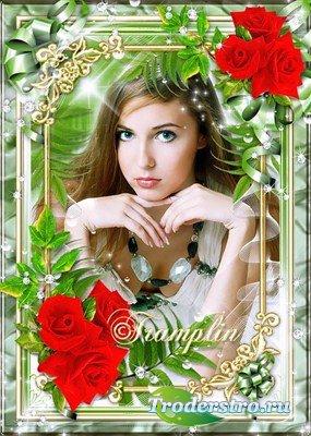 Рамка с красными розами – Живая красота наполнена цветами