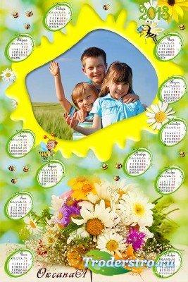 Цветочная рамка с календарем на 2013 год – Ах, ромашка белая