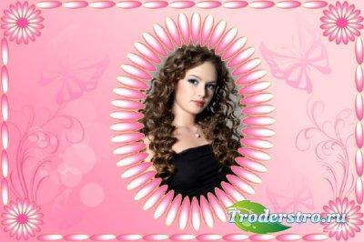 Фотошоп рамка - Розовое настроение