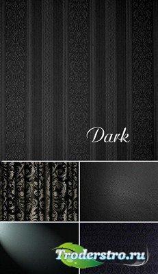 Набор темных высококачественных текстур пяти видов