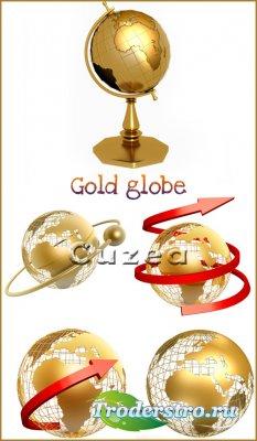 Золотой глобус- растровый клипарт