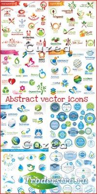 Разнообразные иконки- векторный клипарт