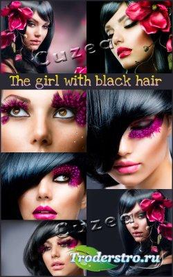 Темноволосые девушки - растровый клипарт