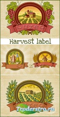 Лейблы урожая- векторный клипарт
