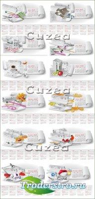 Календарь на новый 2013 год в векторе