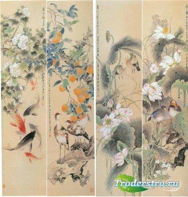 Традиционная китайская живопись (многослойные PSD)