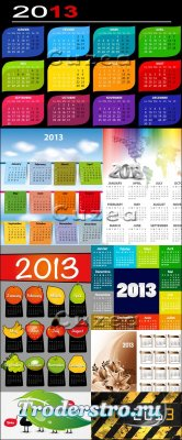 Векторный набор календарей на 2013 год, часть 2