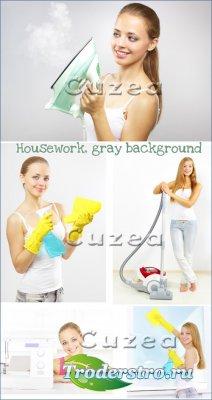 Молодая домохозяйка- растровый клипарт