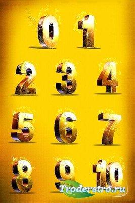 Одиннадцать цифр (многослойный PSD)