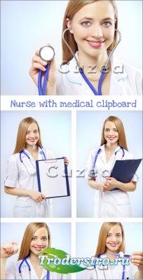 Очаровательная медсестра- растровый клипарт